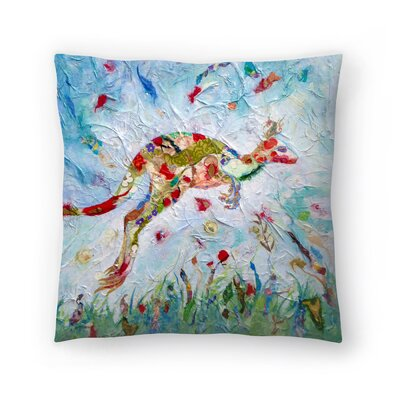 Sunshine Taylor Kangaroo Indoor/Outdoor Throw Pillow Size: 14 x 14
