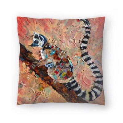 Sunshine Taylor Lemur Indoor/Outdoor Throw Pillow Size: 14 x 14