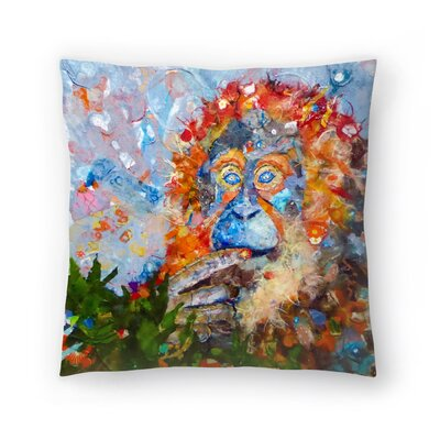 Sunshine Taylor Orangutan Indoor/Outdoor Throw Pillow Size: 18 x 18
