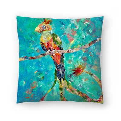 Sunshine Taylor Quetzal Indoor/Outdoor Throw Pillow Size: 18 x 18