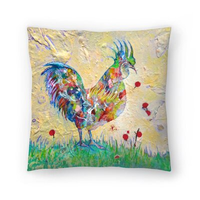 Sunshine Taylor Rooster 2 Indoor/Outdoor Throw Pillow Size: 14 x 14