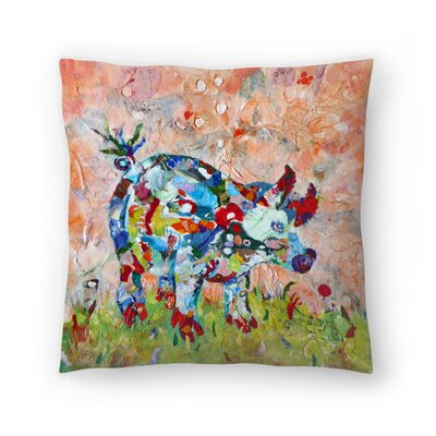 Sunshine Taylor Sow Indoor/Outdoor Throw Pillow Size: 14 x 14