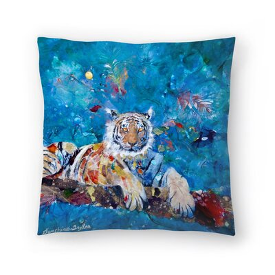 Sunshine Taylor Tiger Indoor/Outdoor Throw Pillow Size: 18 x 18