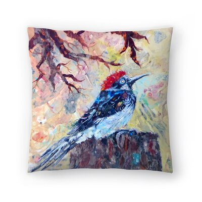 Sunshine Taylor Woodpecker 2 Indoor/Outdoor Throw Pillow Size: 14 x 14