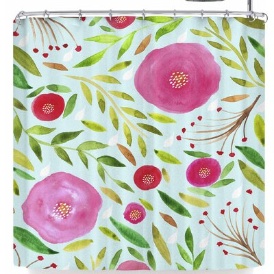 Li Zamperini Floral Feelings Shower Curtain
