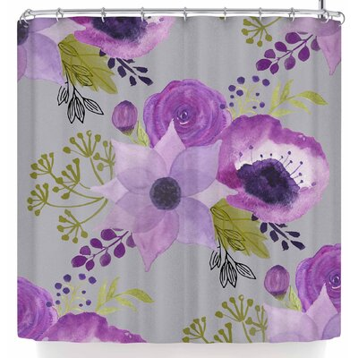Li Zamperini Lilac Shower Curtain