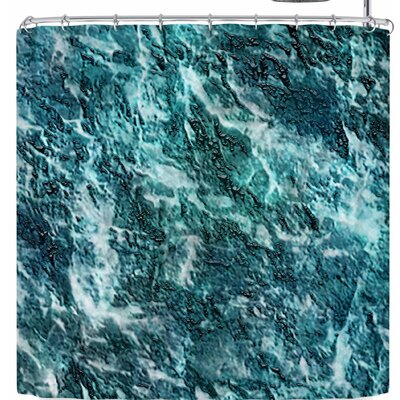 Li Zamperini Earth Shower Curtain