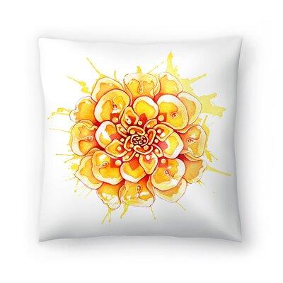 Marigold Mandala Throw Pillow Size: 14 x 14