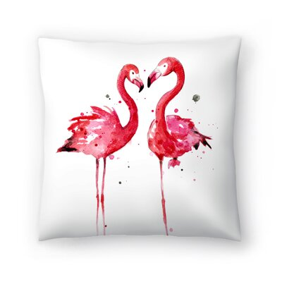 Flamingos Throw Pillow Size: 16 x 16