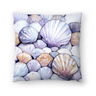 Scallop Shells Amethyst Throw Pillow Size: 14 x 14