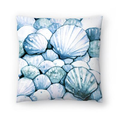 Scallop Shells Throw Pillow Size: 18 x 18