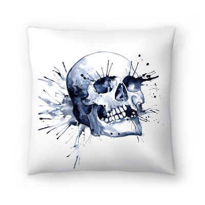 Skull Throw Pillow Size: 14 x 14