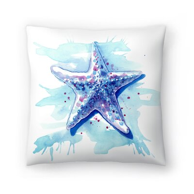 Starfish Waters Throw Pillow Size: 16 x 16