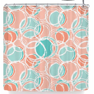 Julia Grifol Sweet Circles Shower Curtain