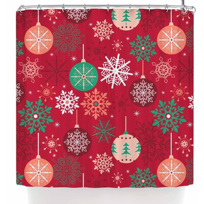 Julia Grifol Christmas Balls Shower Curtain