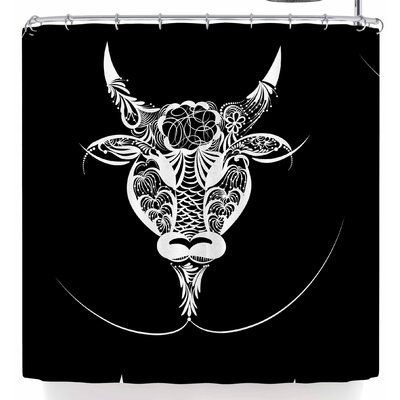 Maria Bazarova Taurus Horoscope Sign Shower Curtain