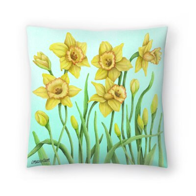 Daffodil Throw Pillow Size: 20 x 20