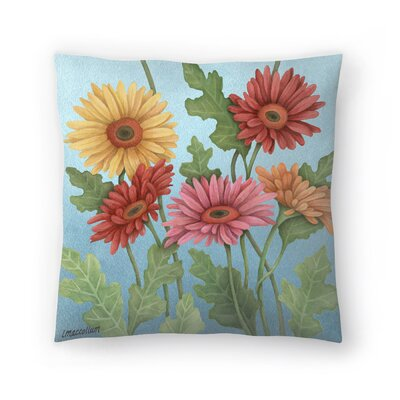 Gerbera Throw Pillow Size: 18