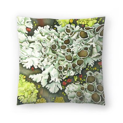 Lichen Throw Pillow Size: 18