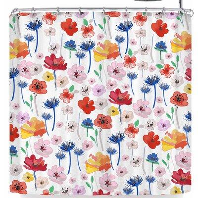 Mukta Lata Barua Flower Garden Shower Curtain