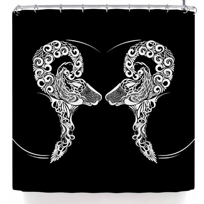 Maria Bazarova Horoscope Sign Aries Shower Curtain