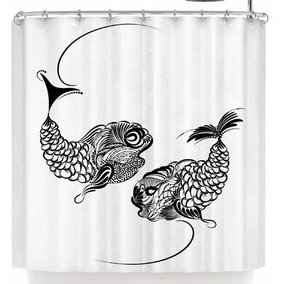 Maria Bazarova Fish Horoscope Zodiac Pisces Shower Curtain