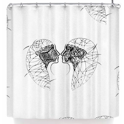 Maria Bazarova Twins Minimalism Shower Curtain