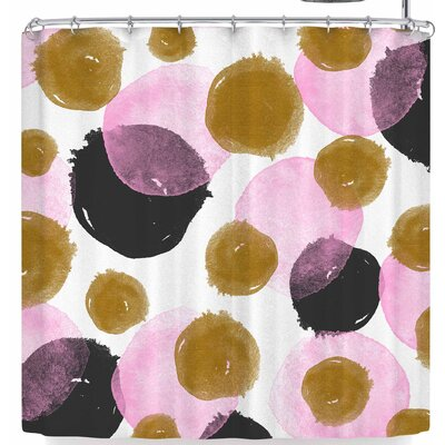 Mmartabc Abstract Watercolor Circles Shower Curtain