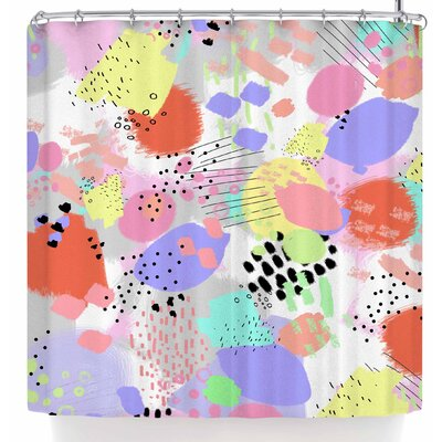 Mukta Lata Barua Abstract Doodle Shower Curtain