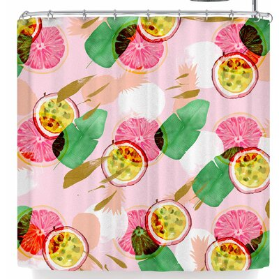 Mmartabc Abstract Tropical Fruits Shower Curtain