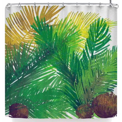 Mmartabc Leaf and Coconut Shower Curtain