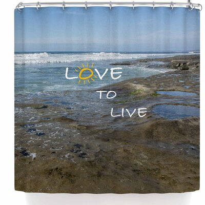 Nick Nareshni Love To Live Shower Curtain
