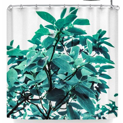 Mmartabc Turquoise Plants Shower Curtain