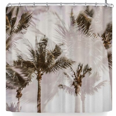 Mary Carol Fitzgerald Abstract Palms Shower Curtain