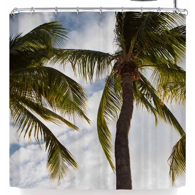 Mary Carol Fitzgerald Paradise Palms Shower Curtain