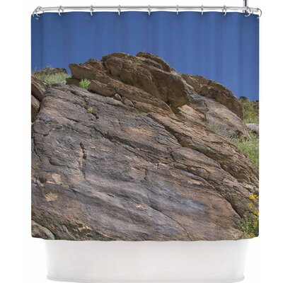 Nick Nareshni Desert Stone Wall Shower Curtain