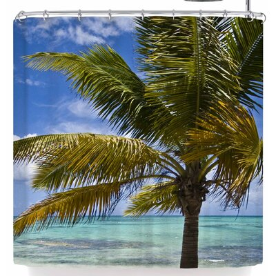 Mary Carol Fitzgerald Tropical Vibes Shower Curtain