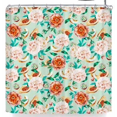 Mmartabc Flowers and Fruits Shower Curtain