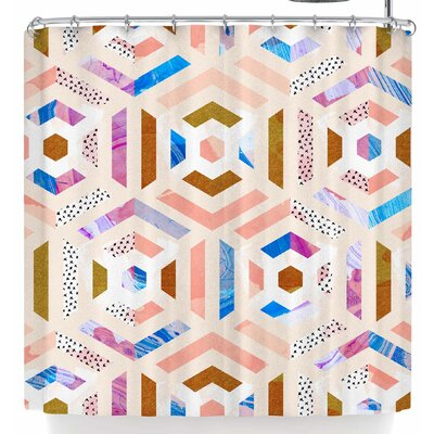 Mmartabc Geometric Colorful  Shower Curtain