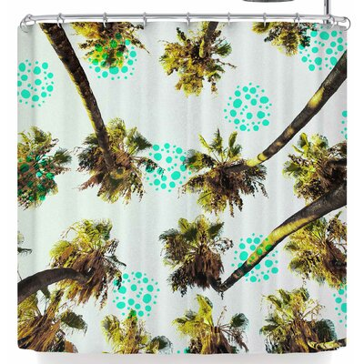 Mmartabc Tropical Palm Trees Shower Curtain