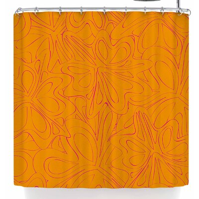 Miranda Mol Retro Tulip Silhouette Shower Curtain
