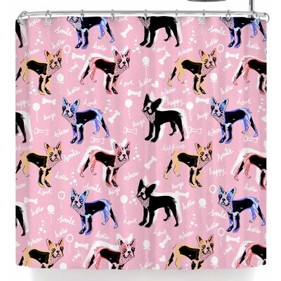 Mukta Lata Barua French Bulldogs Shower Curtain