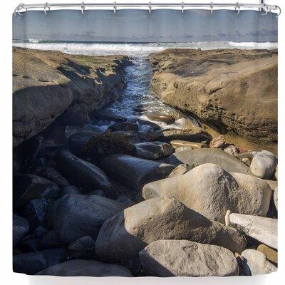Nick Nareshni Stone Beach Reef Shower Curtain