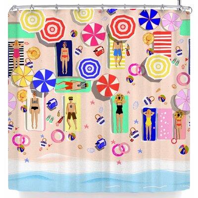 Mukta Lata Barua Beach Holiday Shower Curtain