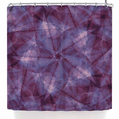 Justyna Jaszke Mandala Geometry Shower Curtain