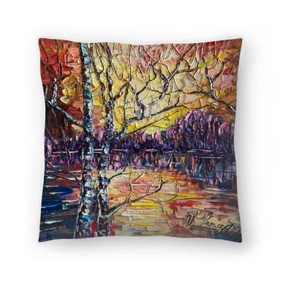Olena Art A Beautiful Sunset That Was Mistaken for a Dawn Throw Pillow Size: 20 x 20