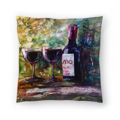 Olena Art Aged Wine Throw Pillow Size: 14 x 14