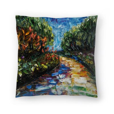 Olena Art Landscape Throw Pillow Size: 18 x 18