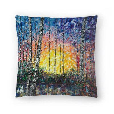 Olena Art Morning Breaks Throw Pillow Size: 18 x 18