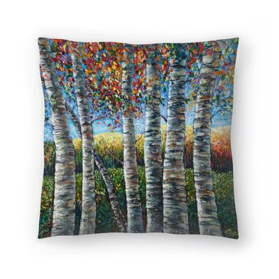 Olena Art Rocky Mountain High Throw Pillow Size: 18 x 18